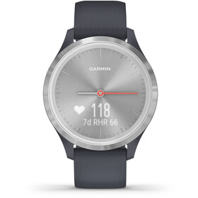 Garmin Vivomove 3S Smartwatch, granite blue/silver